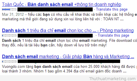 thu thuat marketing - mua danh sach email