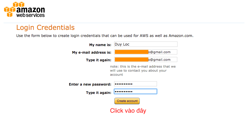 Thong tin dang nhap Amazon SES