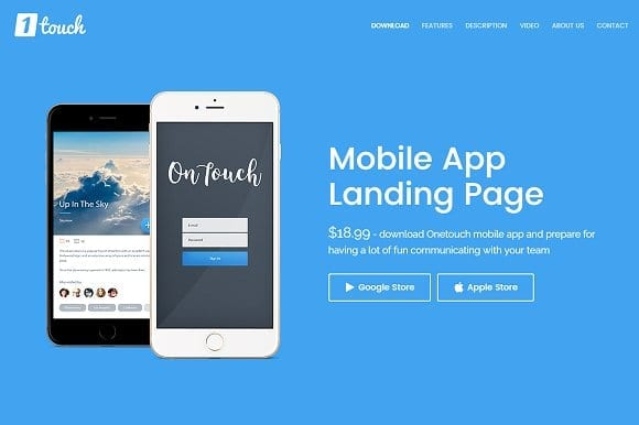 landing page mobile