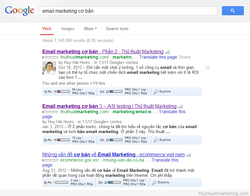 thu thuat marketing - seo email marketing co ban