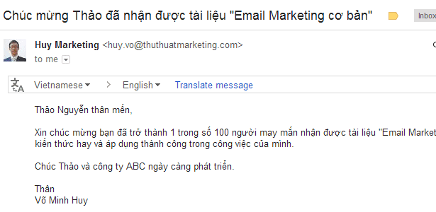 ca nhan hoa email thanh cong Thao Nguyen