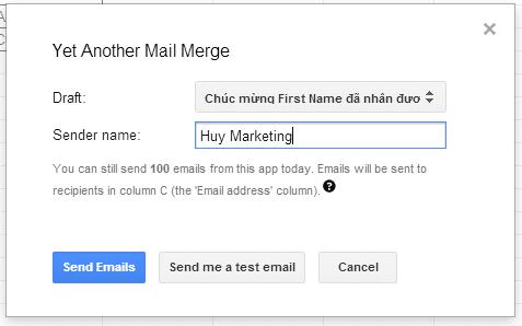 chuan bi gui email ca nhan hoa